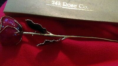 24K ROSE CO.  Red ROSE includes vintage box but the box is damaged.