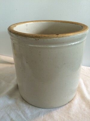 Antique 1 Gallon Stoneware Crock  unmarked in wonderful condition