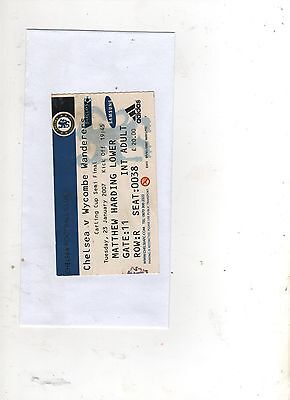 CHELSEA v WYCOMBE WANDERERS (CARLING CUP  SEMI-FINAL) 2006/07