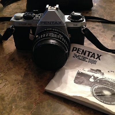 Pentax ME Super  1980 Film Camera with Manual and Strap