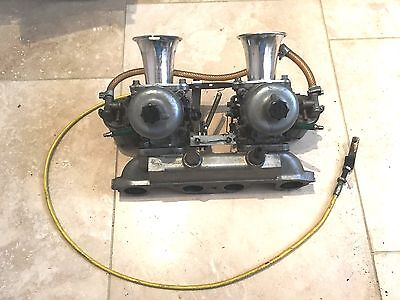 """1.5"""" Twin SU Carburettor with Manifold, K&N Air Filters or Trumpet Air Intakes"""