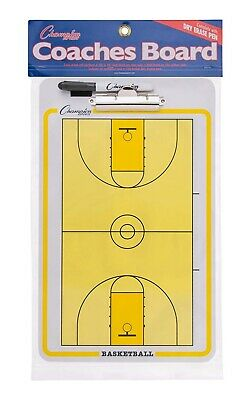 Champion Dry Erase 2 Sided Basketball Coach Coaching Board With Marker CBBK
