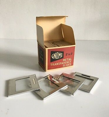 Box of Vintage Photographic Gnome Metal Transparency Slide Mounts -  Photography