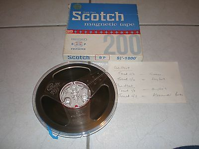 Vintage Scotch 3M Reel To Reel Tape 5&3/4 Inch 1800ft