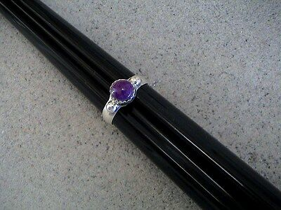 Auth.Native American Indian Sterling Silver/ Purple Sugilite Ring