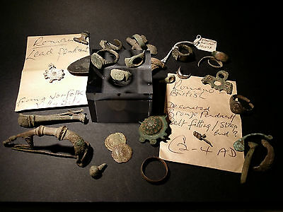 *Britannia Antiquities Gallery* Roman Bronze Items Rings Coins Brooches