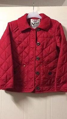 Girls Next Red Jacket Size 9-10 Great Condition