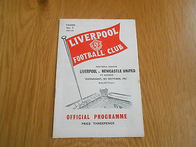 Liverpool V Newcastle United  Played 4/10/1961
