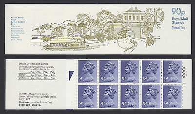 1978 FG4A 90p British Canals 3 Kennet & Avon Folded Booklet