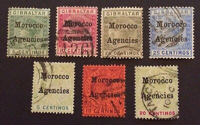 Morocco Agencies 7 Victoria And Edward VII Overprinted On Gibraltar Cat £60+
