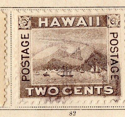 Hawaii 1894 Early Issue Fine Used 2c. 109759