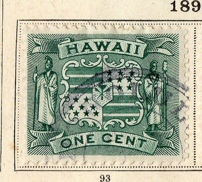 Hawaii 1899 Early Issue Fine Used 1c. 109762