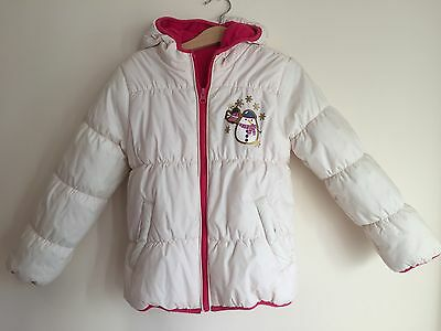 White with pink lining, 5-6 year coat girl, Super warm and thick waterproof coat
