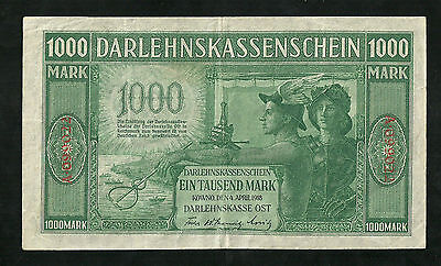 Germany, Occupation Of Lithuania - Wwi 1000 Mark, Darlehnskasse Ost Kowno 1918