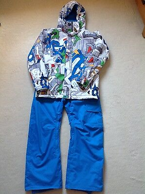 boys quiksilver ski jacket and trousers age 14