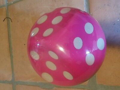 Clear Pink Dice Bowling Ball-New 13Lb New (Partial Blemish)