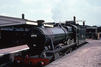 Duplicate 35mm slide ex GWR loco 6993 at Gloucester 13.04.62