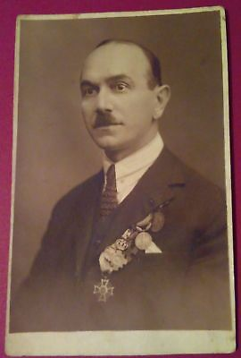 Photography old images of Romanian life instant inedited Decorated man at 1933