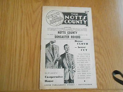 Notts County V Doncaster Rovers  1/9/1956