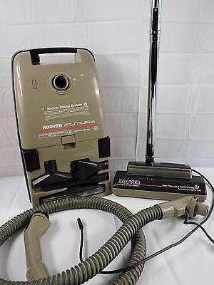 Hoover Futura 9.8A Canister Vacuum S3571 PowerMatic Head Attachments TESTED