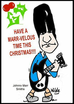 Johnny Marr Xmas Greeting Card The Smiths FREE P&P for UK Made in Manchester