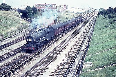 Duplicate 35mm slide ex GWR loco 7012 Barry Castle passing Park Royal 21.08.62