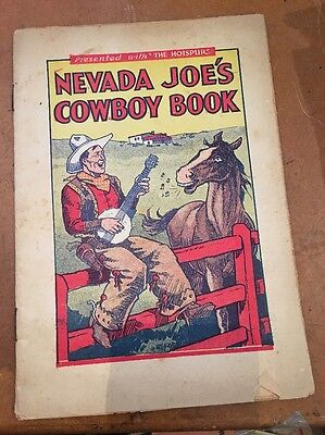 1930s Supplement Presented with THE HOTSPUR comic NEVADA JOE'S COWBOY BOOK VGC
