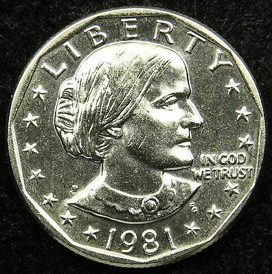 1981 P Uncirculated Susan B. Anthony Dollar BU (B01)
