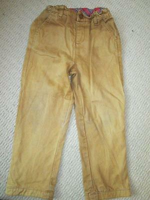 Tootsa Macginty Boys Lined Brown / Mustard Trousers Age 6 - 7 years