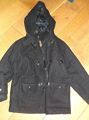 Next navy duffel coat 6 years Boys or girls.
