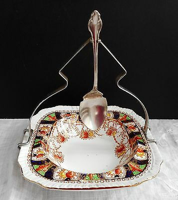 Art Bouveau preserve dish with frame and spoon