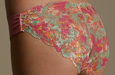 Marks And Spencer Floral Lace Knickers Briefs Size 12 Ladies Lingerie BNWT