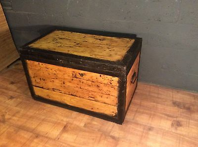 vintage military zinc lined trunk chest