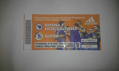 Bosnia and Herzegovina - Cyprus 10.10.2016. TICKET Qualifiers WC 2018.