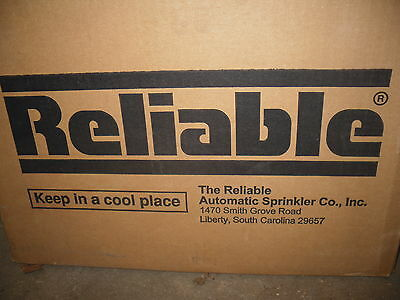 NEW RASCO/Reliable SWC 1/2 Fire Sprinklers Coverplate 135F white 50 ct box new