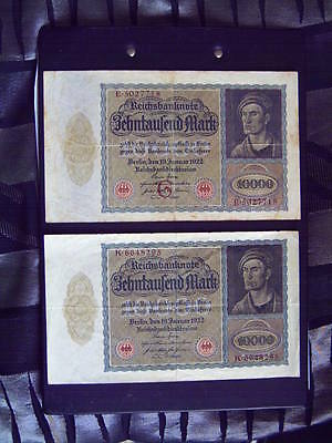 GERMANY 10,000 ( 10000 ) Mark issued 19.01.1922  big Size