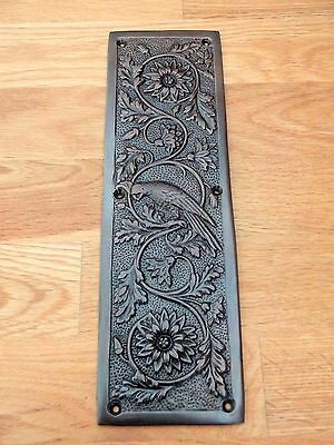 Bronze Finish Arts & Crafts Parrot ⭐️⭐️⭐️⭐️⭐ Finger Door Push Plates Fingerplate