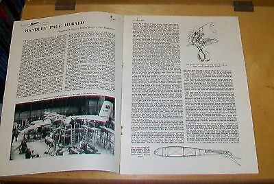 Handley Page Herald Branchliner Airliner Flight Magazine Article Reprint 1955