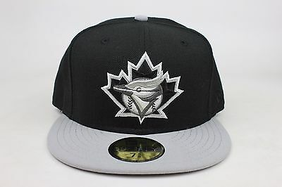 reputable site 5be68 7c9fd ... greece toronto blue jays black gray lid white silver new era 59fifty  fitted hat 04c7a 6ec7c ...