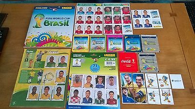 Panini 2014 Brazil World Cup Complete Album And Rare Collection Update Stickers