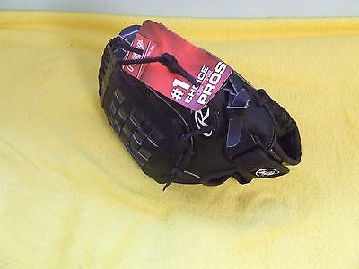 "Rawlings PL129 Leather Baseball Glove 11"" Right Hand Boys Youths Black BNWT"