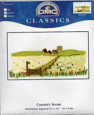 DMC CLASSIC EMBROIDERY KIT =Country Scene=