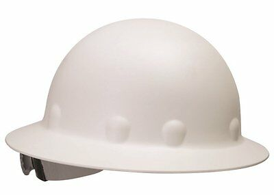 Fibre Metal P1 Roughneck Full Brim Fiberglass Hard Hat Ratchet Suspension, White