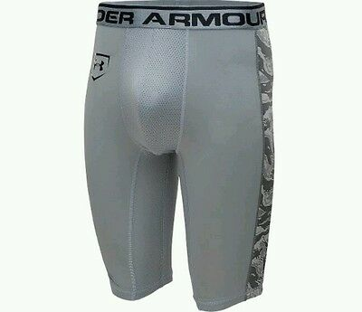 $45 Under Armour Men Adult Baseball Sliding Compression Shorts White Camo XL Cup