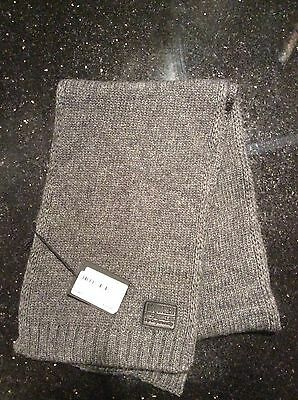 BNWT  DSQUARED2  GREY WOOL MIX SCARF 54 inch x 7 inch AGE FROM 8+ �� TAG £72