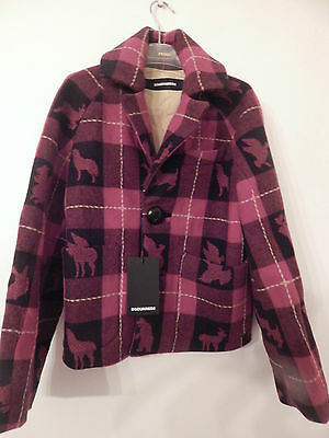 Bnwt Dsquared2 Poachers Woodland Creatures Wool Coat Age 12 Tag Price £398