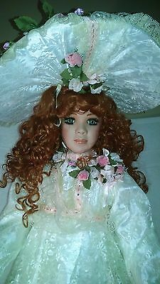 """Welden Museum Porcelain Doll """"Monica"""" by Rustie 36"""" Tall Limited Edition #/2000"""
