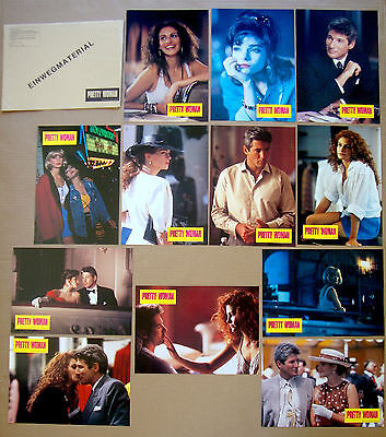 PRETTY WOMAN Richard Gere JULIA ROBERTS German LOBBY CARD SET of 12