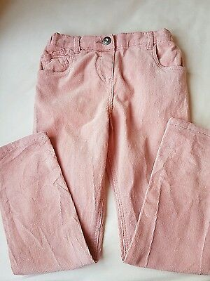 Girls Pink Trousers Adjustable Waist Age 5 - 6