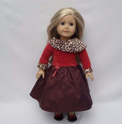 American Girl Chocolate Cherry Holiday Outfit